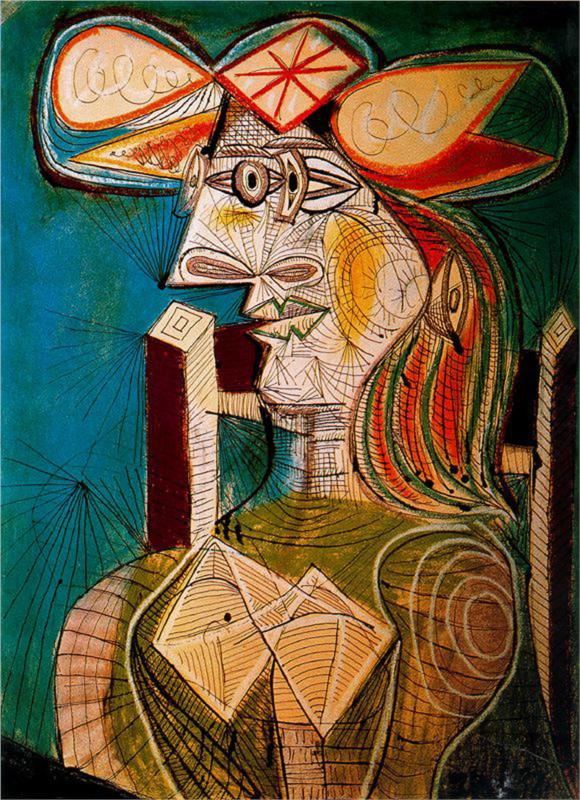 Picasso--Seated Woman on a Wooden Chair 1941