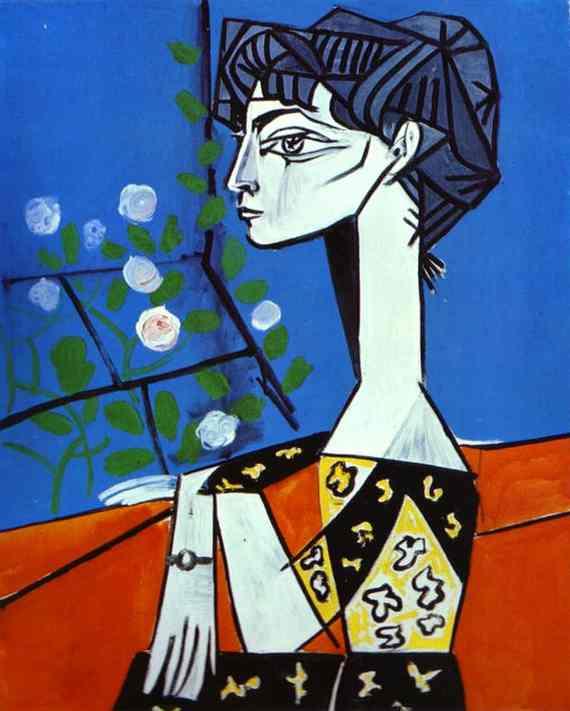 picasso-JaquelineWflower1954