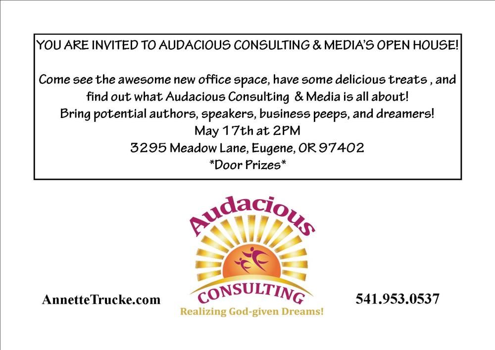 Audacious open house