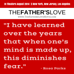 the fathers love poster rosa park