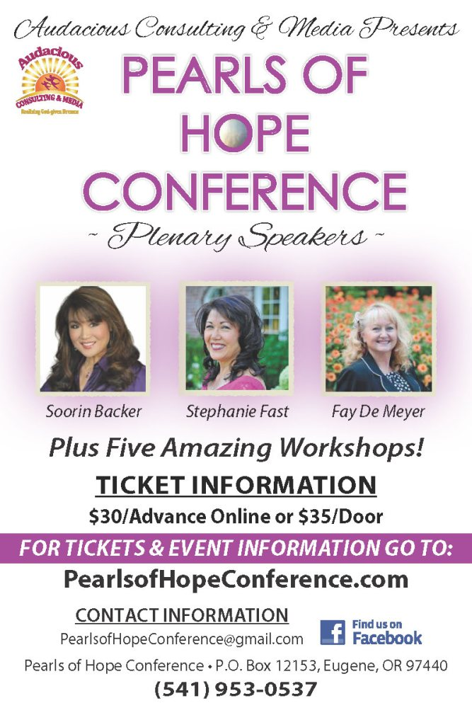 Pearls of Hope Conference MARCH 13th & 14th EUGENE